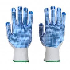Portwest  A113 - Polka Dot Plus Glove White/Blue