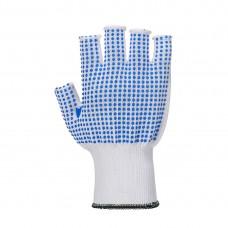 Portwest A114 - Fingerless polkadot glove White/Blue