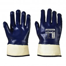 Portwest  A302 - Fully Dipped Nitrile Safety Cuff Navy