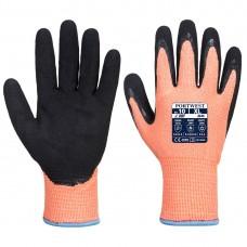 Portwest  A646 - Vis-Tex Winter HR Cut Glove Nitrile Orange/Black