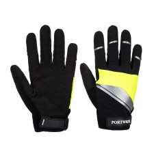 Portwest  A760 - Cut 3 Mechanics Glove Black/Yellow