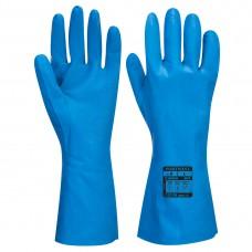 Portwest  A814 - Food Approved Nitrile Gauntlet Blue