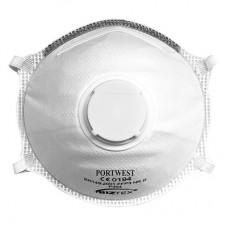 Portwest P304 - FFP3 Valved Dolomite Light Cup Respirator White ( Box to 10PCS)