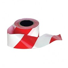 WARNING TAPE, SAFETY, RED/WHITE, FLAGGING TAPE, 500M, PORWEST