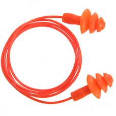 Portwest   EP04 - Reusable Corded TPR Ear Plug   Orange