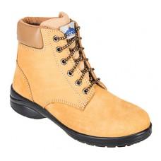 Portwest  FT41 - Steelite Louisa Ladies Ankle Boot S3 Wheat
