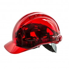 Portwest  PV50 - Peak View Hard Hat Vented Red